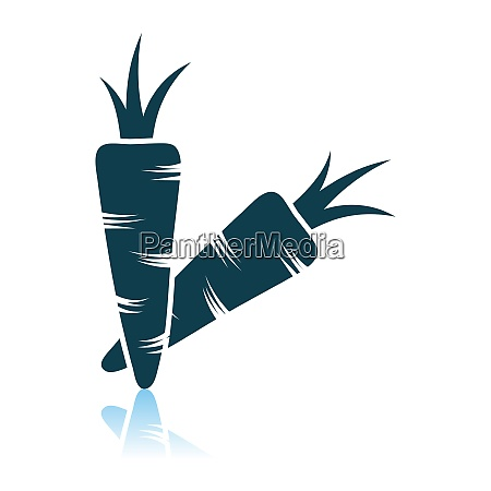 carrot icon on gray background