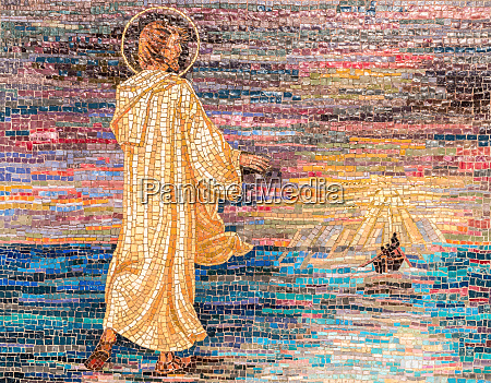 religious mosaic of jesus christ