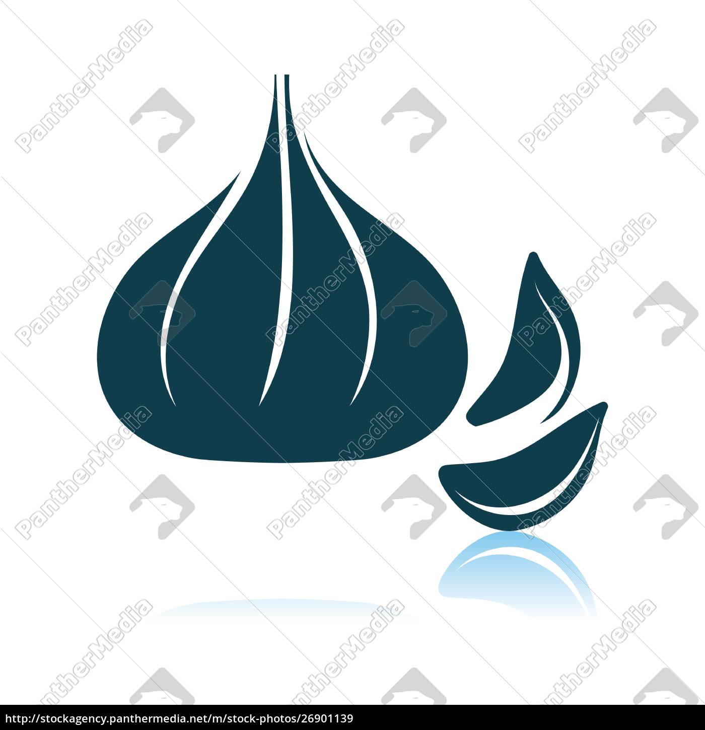 garlic, icon, on, gray, background - 26901139