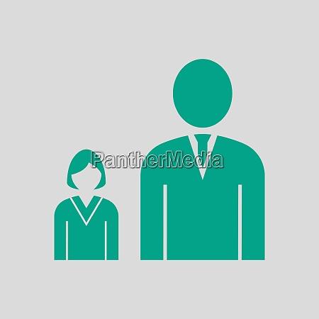 man, boss, with, subordinate, lady, icon - 26901197