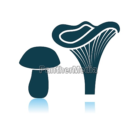 mushroom, icon, on, gray, background - 26901141