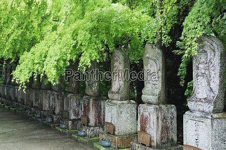 row of spiritual statuary