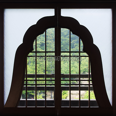 window in a shinto temple