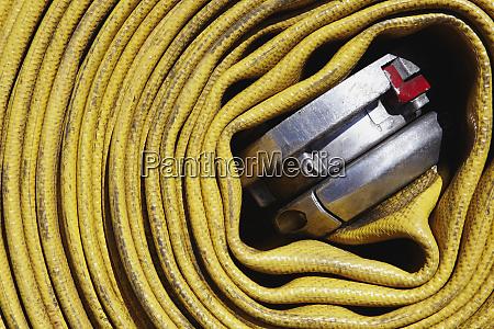 coiled fire hose
