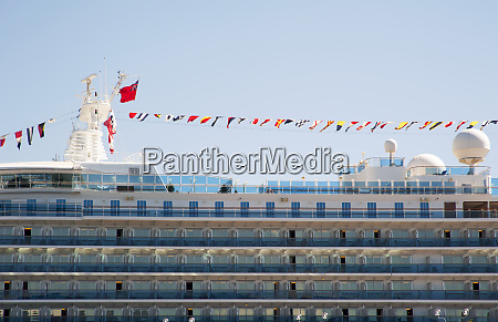 flags on cruise ship