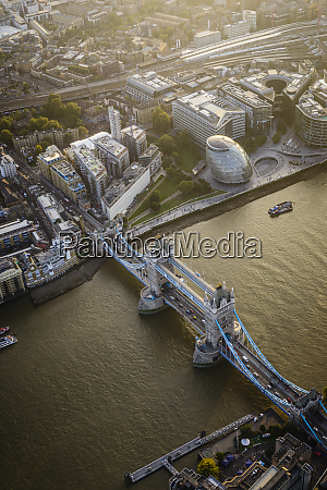 aerial view of london cityscape and