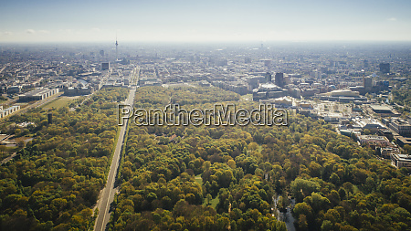 drone point of view sunny tiergarten
