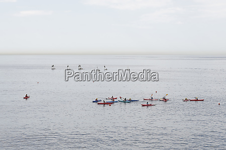canoeing and sailing lessons on ocean