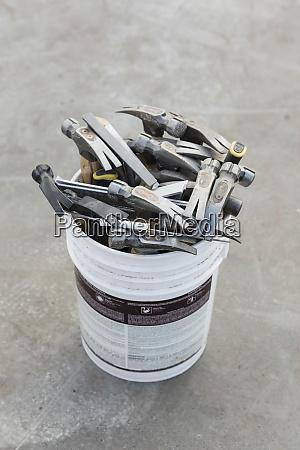 hammers in bucket