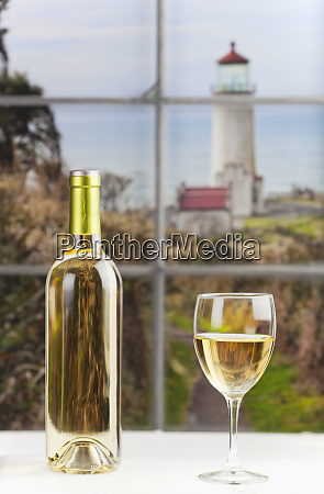 close up of bottle of wine