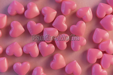 pink heart shaped candy
