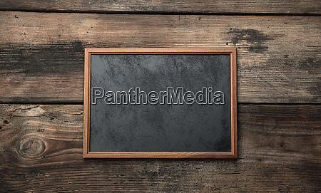wooden empty chalk board on a