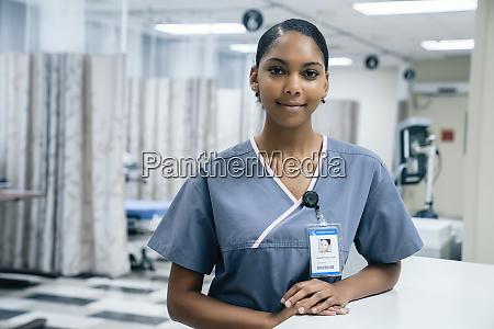 portrait of nurse in hospital
