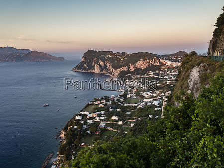 italy campania capri in the evening