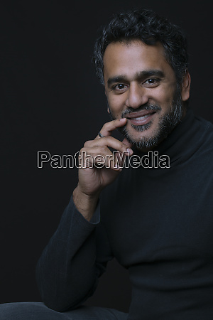 portrait of an indian man smiling
