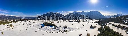 germany bavaria alps and karwendel mountains
