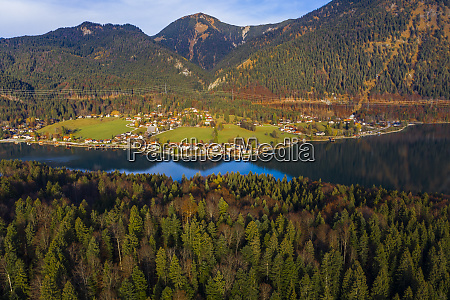 germany bavaria upper bavaria lake walchen