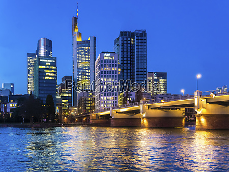 germany hesse frankfurt sykline financial district