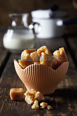 cream toffees in a bowl