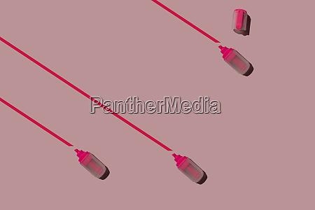 3d illustration marker on pink background