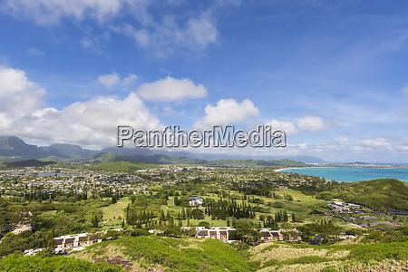 usa hawaii oahu kailua view from