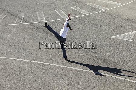 senior woman doing pilates exercise