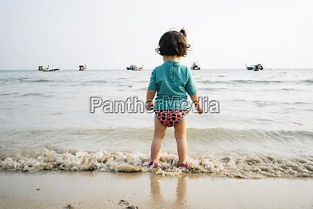 thailand koh lanta back view of