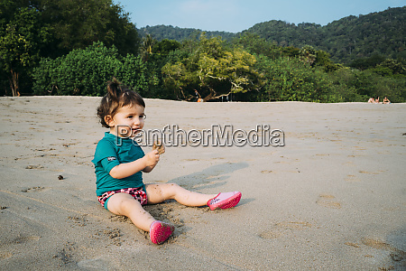 thailand koh lanta smiling baby girl