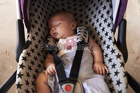 portrait of little boy sleeping in