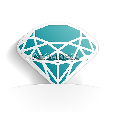 diamond icon paper