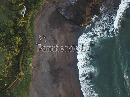 indonesia bali aerial view of pererenan