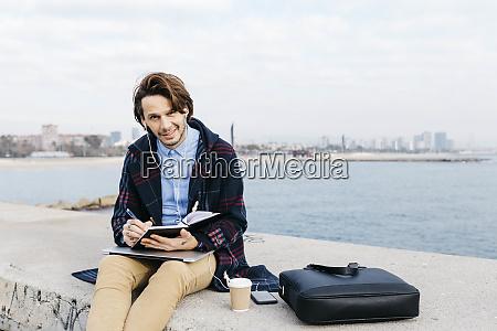 spain barcelona portrait of man sitting