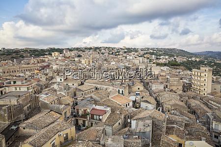 italy sicily modica townscape