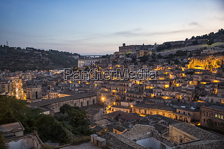 italy sicily modica townscape in the