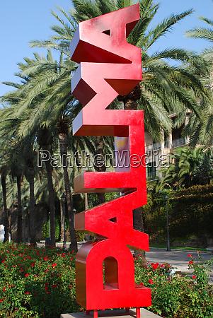 palma de mallorca great red sign