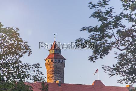 germany nuremberg old town sinwell tower