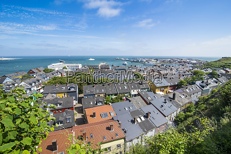 germany helgoland island overlook over the
