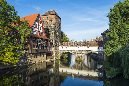 germany nuremberg old timbered house and