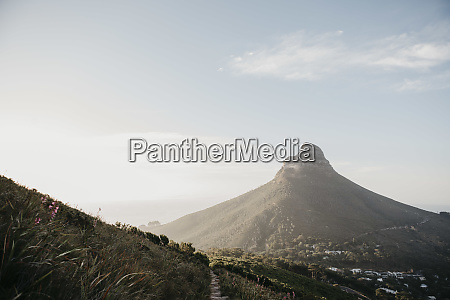 south africa cape town sunset at