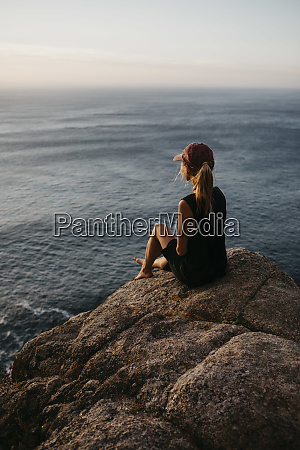 south africa western cape woman sitting