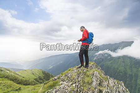 man standing on top of a