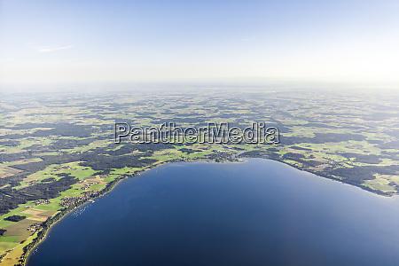 germany bavaria aerial view of lake