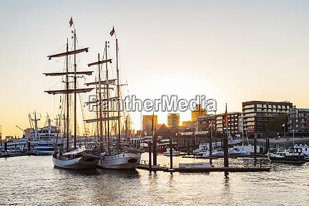 germany hamburg baumwall city marina at