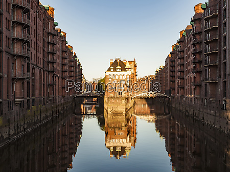 germany hamburg old warehouse district and