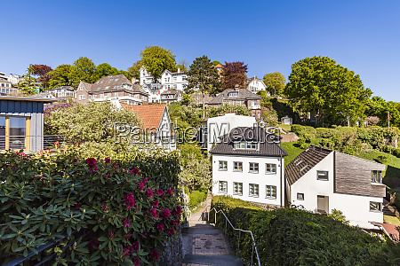germany hamburg blankenese residential houses