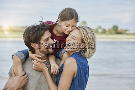 germany duesseldorf happy family with daughter