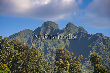 rwanda virunga national park view to
