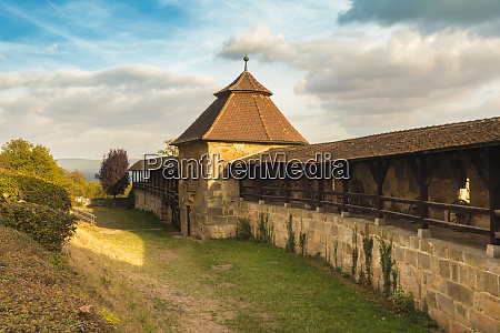 germany bavaria bamberg wall walk at