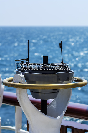 compass on a sailing boat