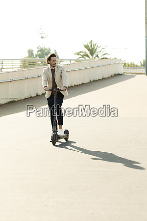 man with e scooter